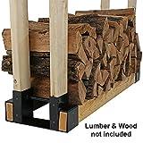 Sunnydaze Steel Firewood Log Rack Bracket Kit - Adjustable to Any Length