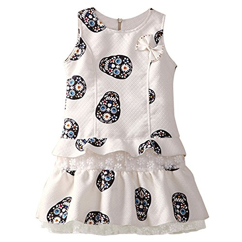 Kids Skull Vest Dresses, AOFUL Children Clothes