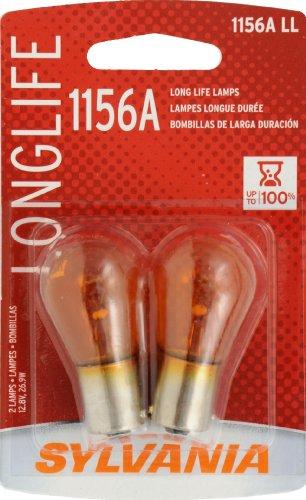 SYLVANIA 1156A Long Life Miniature Bulb, (Pack of 2)