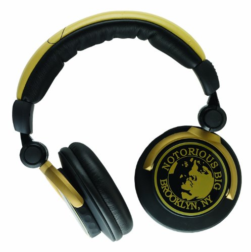 Price Point Accessories Llc Rbh5260 Notorious B.I.G. Section8 Super Bass Dj Headphones, Black/Gold