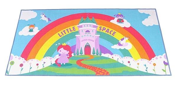 Littletude ABDL Adult Baby Playmat - Fairytale Little Space (Color: Fairytale Little Space, Tamaño: X-Large)