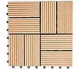 (RH)人工木 樹脂 27枚セット 腐らない ベランダ ウッドタイル ウッドデッキ (typeBナチュラル)