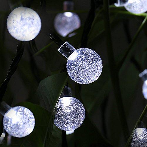 Solar String Lights, 20ft 30 LED Waterproof Outdoor Globe ...
