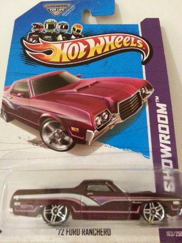 Hot Wheels HW Showroom '72 Ford Ranchero Dark Maroon #163/250 - 1
