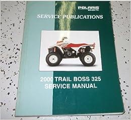 2000 Polaris Trail Boss 325 Shop Repair Service Manual border=