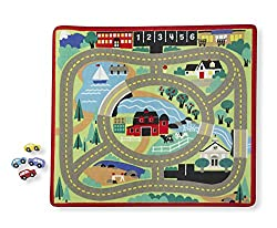 Round the Town Road Rug- Trucks, Trains & Vehicles - Train Sets & Access