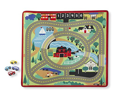 Melissa & Doug Round The Town Road Rug - 1