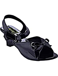 Relexop Women's Black Low Heel Wedges