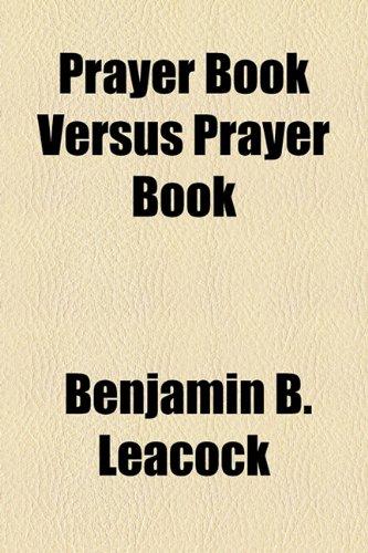 Prayer Book Versus Prayer Book
