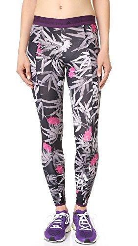 adidas by Stella McCartney Women's Yoga Clima Bamboo Leggings, Black/Multicolor, Small