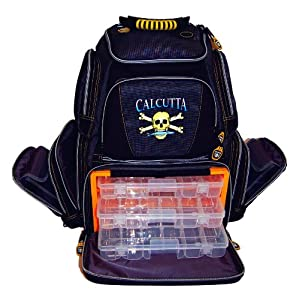 Calcutta Black Gray Framed Tackle Backpack 3 360 Trays by Calcutta