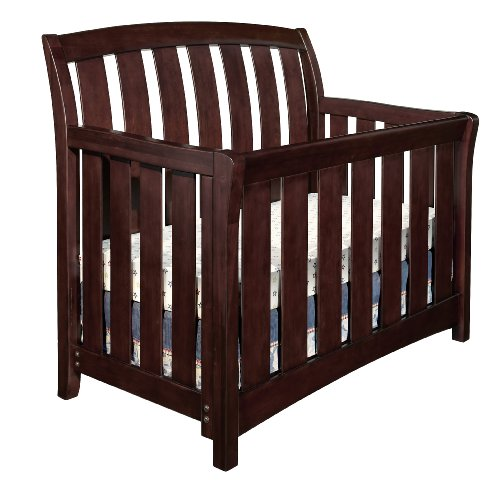 Westwood Design Brookline Convertible Crib with Toddler rail, Chocolate Mist