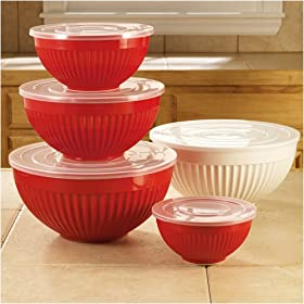 Mixing Bowls Set of 4 w/ Lids