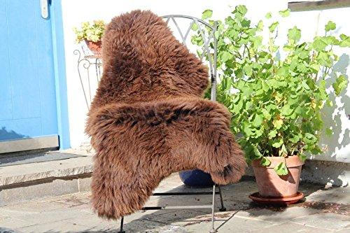 Schaffell Lammfell Merinoschaf groß 120-130cm Braun ökologische Gerbung