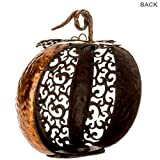 Copper Metal Pumpkin Tea Light Candle Holder