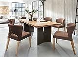 Essgruppe-Malte-Alteiche-Massiv-modern-design-Essecke-Holz-Polstersthle-Runa-200x100cm