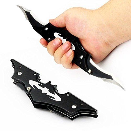 Demoon-Pocket Knife-11'' Black Double Blade Pocket Knife Inspired Knife (11'' black)