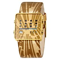 Nooka Unisex MTV-ZOT-GD MTV Zot Gold Leather Watch