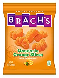 Brach\'s Mandarin Orange Slices Gummy Candy, 10.5 Ounce, Pack of 12