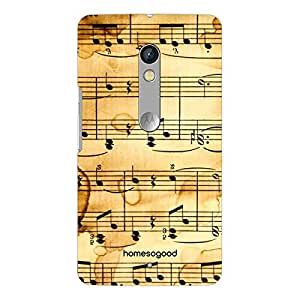 HomeSoGood Musical Notes On Paper 3D Mobile Case For Moto X Play (Back Cover)