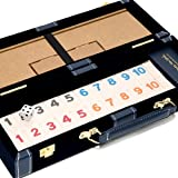 Spring Street Deluxe Designer Rummy Game Set with Wooden Racks and Large Size Numbers