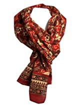 Anokhi 100% Cotton Voile Rust Garden Fashion Scarf *New for Fall