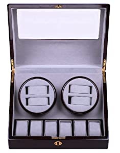 Top Quality Quad Watch Winder 4+6 Storage Box Case