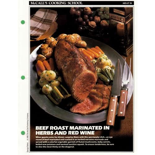 McCall's Cooking School Recipe Card (Meat 33 - Roast Sirloin Of Beef With Sauteed Cucumbers) (Replacement Recipage / Recipe Card for 3-Ring Binders) Marianne Langan and Lucy Wing
