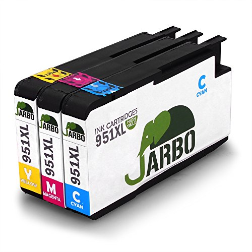JARBO 3Color Replacement Ink Cartridge For HP 951 Ink Cartridge(1xCyan 1xmagenta 1xYellow) 3 Pack Compatible With HP Officejet PRO 8600 8610 8620 8630 8640 8660 8615 8625 251dw 271dw