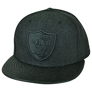 NFL New Era 9Fifty 950 Oakland Raiders Melton Stinger Snap Buckle Hat Cap Black by New Era