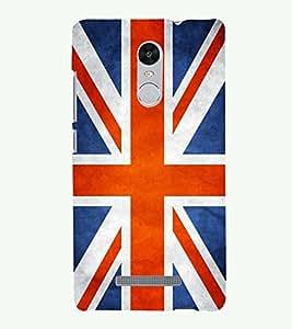 PRINTSHOPPII FLAG ENGLAND Back Case Cover for Xiaomi Redmi Note 3