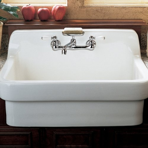 Standard Farm Sink Dimensions : Standard 7295.252.002 Heritage Wall-Mount 5-5/8-Inch Swivel Spout Farm ...