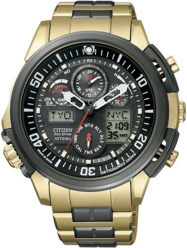 CITIZEN (シチズン) 腕時計 ATTESA アテッサ Eco-Drive エコ・ドライブ 電波時計 ワールドタイム ジェットセッター GB ATV53-2934 メンズ 限定モデル