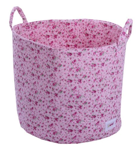 Minene Large Storage Basket with Flowers (Pink)
