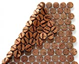 Kork Mosaik Fliesen Bodenbelag Wandbelag 30cm x 30 cm Stärke