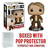 Funko Pop! Star Wars: The Force Awakens - Han Solo #79 Vinyl Figure (Bundled with Pop BOX PROTECTOR CASE) (Tamaño: 3.75 inches)