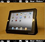 Bear Motion Genuine Leather Case for iPad2 2nd Generation built-in Stand for Apple Ipad 2 (Latest Generation) Tablet (Black)