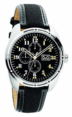 D&G Dolce&Gabbana DW0640 - Reloj 0 unisex con correa de acero inoxidable negra