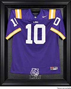 LSU Tigers Brown Framed Logo Jersey Display Case by Sports Memorabilia
