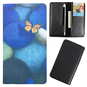DooDa - For LG Mega PU Leather Designer Fashionable Fancy Case Cover Pouch With Card & Cash Slots & Smooth Inner Velvet
