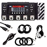DigiTech RP500 Pedal with Headphones and Cables Bundle