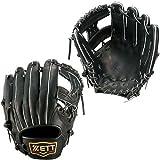 ゼット(ZETT) 軟式グラブ プロステイタスシリーズ 二塁手・遊撃手用 Z BRGB30510 1900 ブラック LH