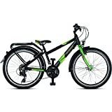 Puky Crusader 24-21 Alu Active Light Kinder Fahrrad schwarz matt
