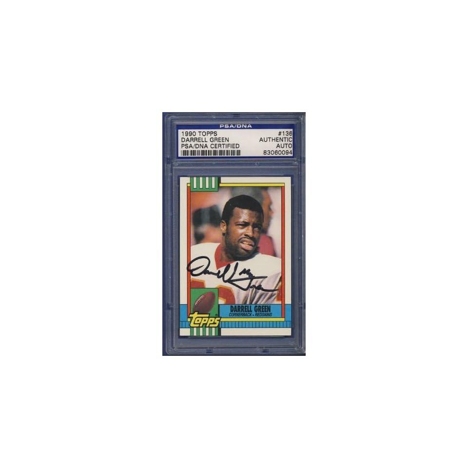 1990 Topps Darrell Green #136 Signed Card PSA/DNA