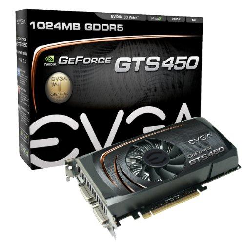 EVGA Nvidia 01G-P3-1351-KR GF GTS 450 Graphics Card (1GB, GDDR5)