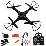 Sidiou Group Nuova versione X5SC & X5S rtf RC 2.4G 4CH 6 Axis Gyro / flash luci RC Quadcopter A 360 gradi elicotteri 3D di controllo remoto elicottero con fotocamera 2.0MP HD (comprenda 4GB Scheda) Extra 5 Pz 500mAh Batterie + 3D Glasses + 5 in 1 car - Best Reviews Guide
