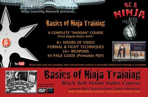 """DVD: """"Basics of Ninja Training"""" Ninjutsu Blackbelt Video Course (Bujinkan)"""