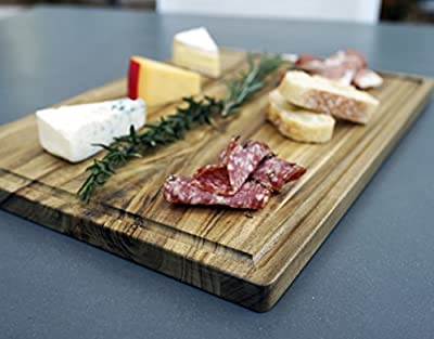 +Sale+ Large Gourmet Acacia Cutting Board with Juice Drip Groove 14 x 10 Inches Eco Friendly Perfect for Cutting or Serving Platter as a Cheese Plate With Unique Wood Grain Better Than Bamboo