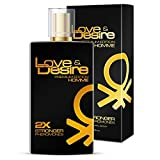 Love & Desire GOLD PREMIUM EDITION Pheromones for Men 100ml Attract Beautiluff Women - 4 Pheromones in 1 Perfume