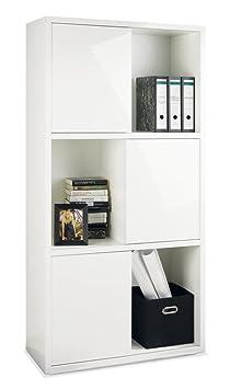 regal aktenregal aktenschrank wei hochglanz g nther us22. Black Bedroom Furniture Sets. Home Design Ideas